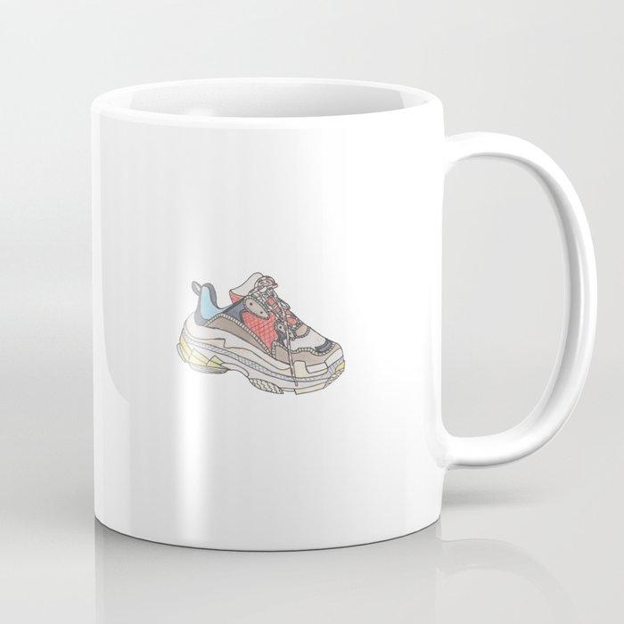 Balenciaga Triple S Sneaker Pattern Illustration Coffee Mug