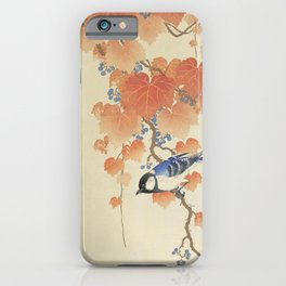 Great tit on paulownia branch (1925 - 1936) by Ohara Koson (1877-1945) iPhone Case