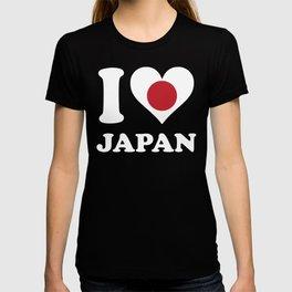 I Love Japan Japanese Flag Heart T-shirt
