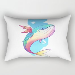 The Sky Whale Rectangular Pillow