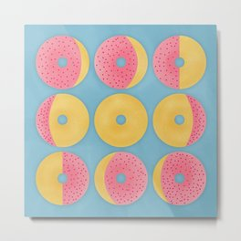 Moon Phase Donuts Metal Print