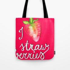 i heart strawberries Tote Bag