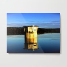 Reflections of a water Tower Metal Print