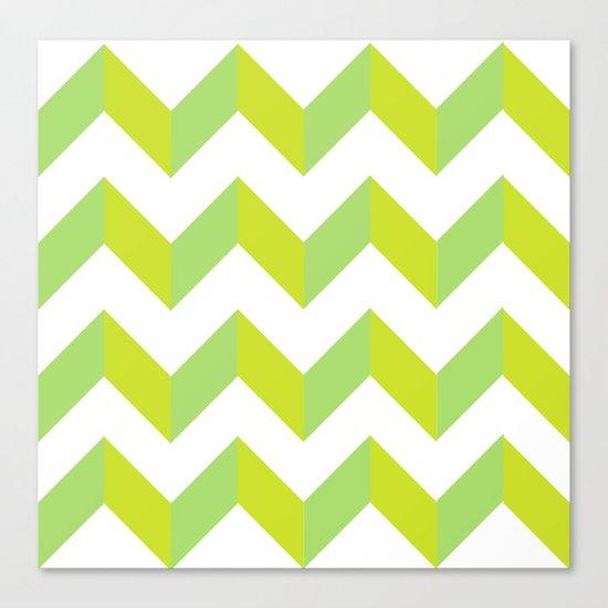green pattern geometric Canvas Print