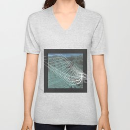 Dusty and Delineated Unisex V-Neck