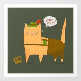 Oktoberfest Kitty Art Print