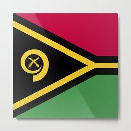 Vanuatu flag emblem Metal Print