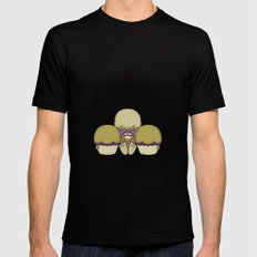 Cute Monster With Yellow And Purple Frosted Cupcakes MEDIUM Mens Fitted Tee Black