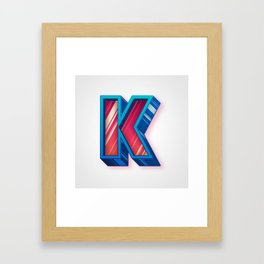 The Letter K Framed Art Print