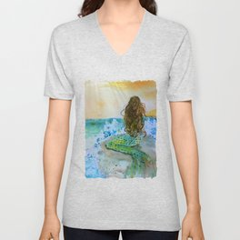Final Joy Mermaid Unisex V-Neck