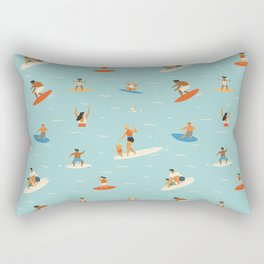 Surfing kids Rectangular Pillow