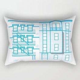 Buildings - nyc vs istanbul Rectangular Pillow