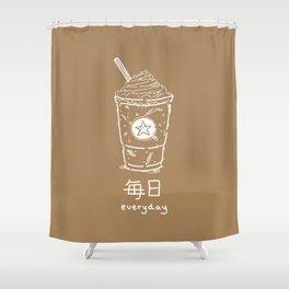 Iced Coffee (mainichi) Shower Curtain