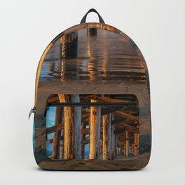 Long Exposure Under Newport Pier II Backpack