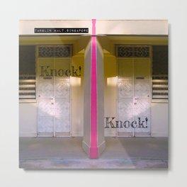 KNOCK KNOCK! Metal Print