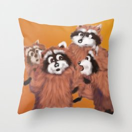 Raccoon Series: Discussion Throw Pillow