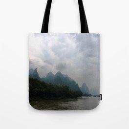 Li River in the Rain Tote Bag