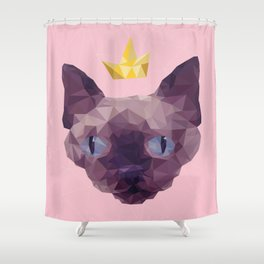 King Cat. Shower Curtain