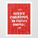 Merry Christmas, Ya Filthy Animal – Red by catcoq