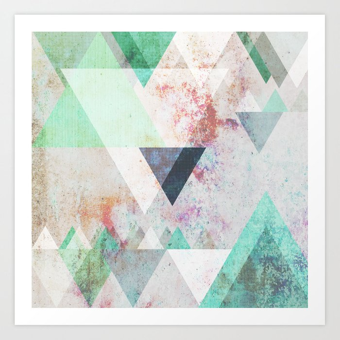 Graphic 3 turquoise Art Print