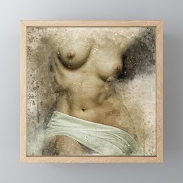 Venus. Nude woman watercolor Framed Mini Art Print