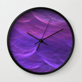 Pink and Purple Ultra Violet Soft Waves Wall Clock