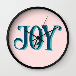 Joy! Made for VSCO girls. Wall Clock