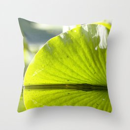 Watercolor Water Plant, Spatterdock 01, Rock Run, Florida Throw Pillow