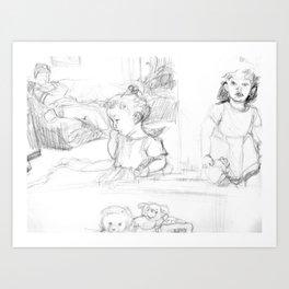 Studies of Lilah II Art Print