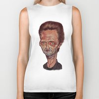 christopher walken Biker Tanks featuring Christopher Walken by Nicolas Villeminot