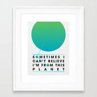 planet Framed Art Prints featuring Planet by Matt Hunsberger
