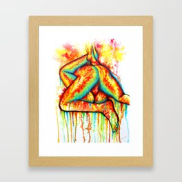 Holy Fuck - Erotic Art Illustration Nude Sex Sexual Love Lovers Relationship Couple Mature Colorful Framed Art Print