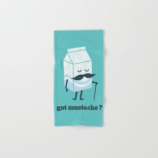 Got mustache? Hand & Bath Towel