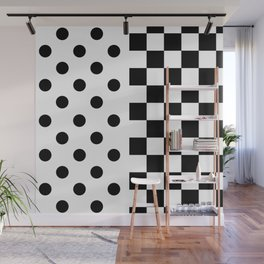 BACKGROUNDS (BLACK-WHITE) Wall Mural