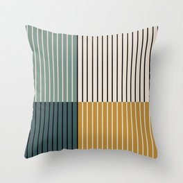 Color Block Line Abstract VIII Throw Pillow