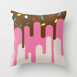 The ice-donut Throw Pillow