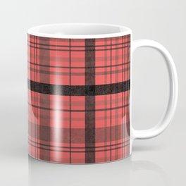 Black & Red Plaid Coffee Mug