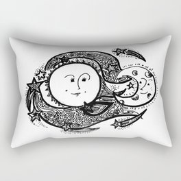 The Sun and Her Sunshine Rectangular Pillow
