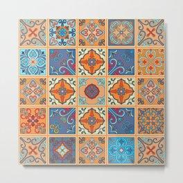 Vintage mosaic talavera ornament Metal Print