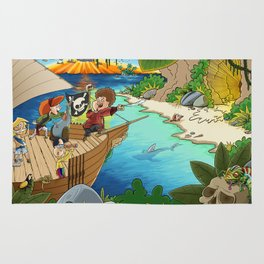Little pirates on epic journey Rug