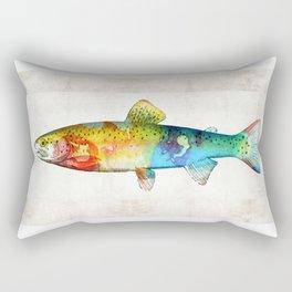 Rainbow Trout Art by Sharon Cummings Rectangular Pillow