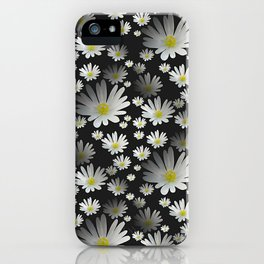 Daisies pattern as 3D texture iPhone Case