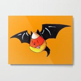 Candy Corn Bat Metal Print