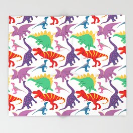 Dinosaur Domination - Light Throw Blanket