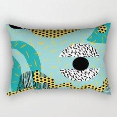Boss - abstract 80s style memphis vibes patterns 1980's retro minimal throwback decor Rectangular Pillow