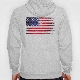 Vintage American flag on black Hoody