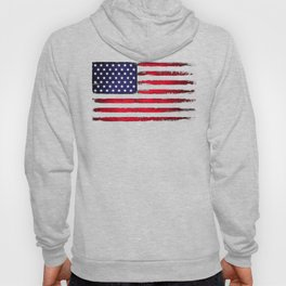 Vintage American flag on black Hoody