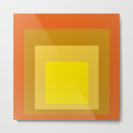 Block Colors - Yellow Gold Orange Metal Print