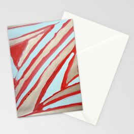 meditations in gold and red lines Stationery Cards