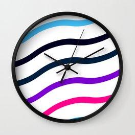 Rising Cool Wave Wall Clock